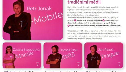 T-Mobile po 18 letech mění PR agenturu a transformuje komunikaci. Vsadil na tandem FYI Prague a katz83